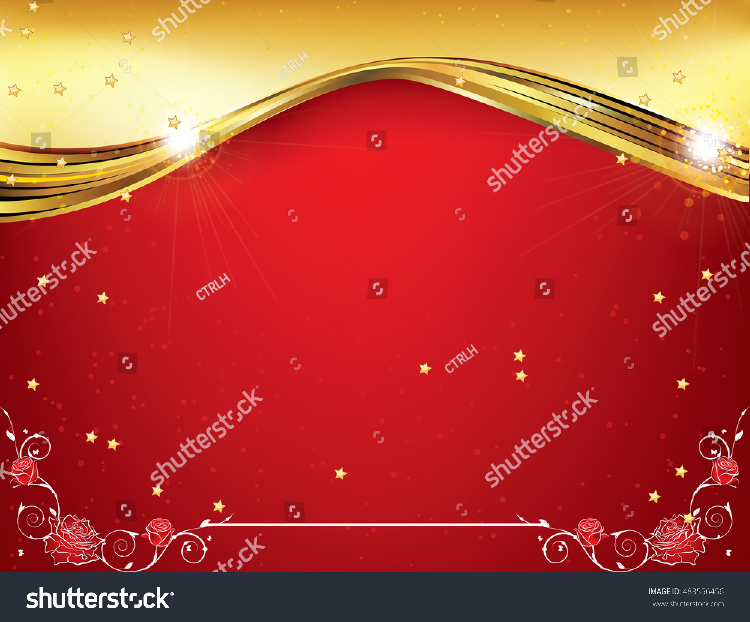 Red Celebration Background Any Occasion Winter Stock Vector (Royalty ...