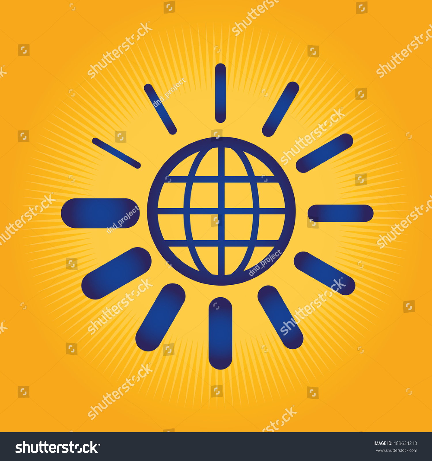 Globe loading symbol stock vector 483634210 shutterstock globe and loading symbol biocorpaavc Image collections