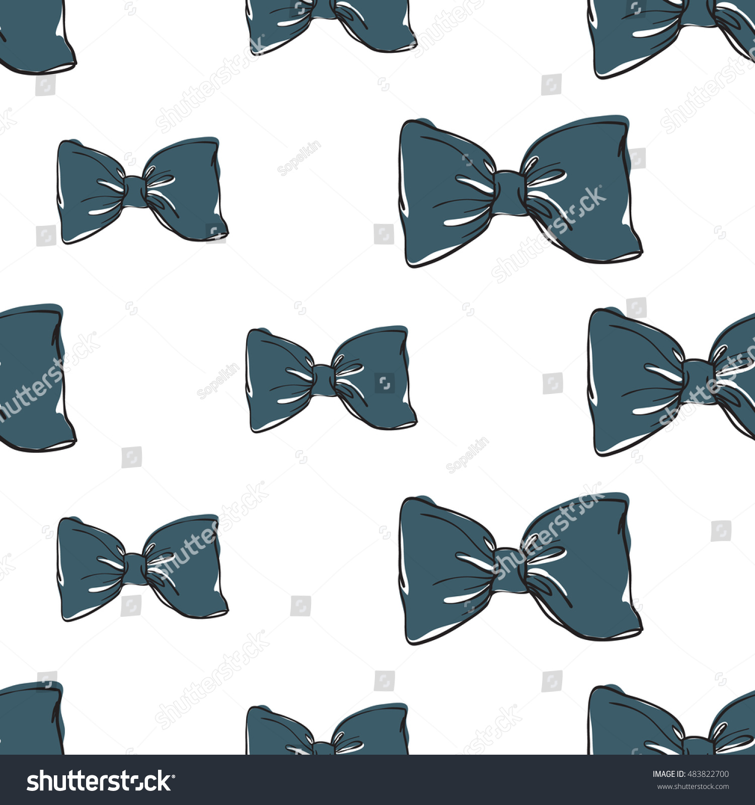 seamless pattern background blue bowtie vector stock