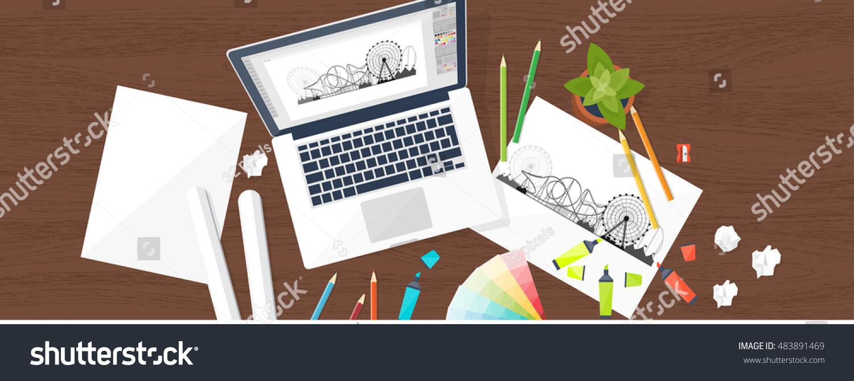 Web Design Workplace Stock Footage Free