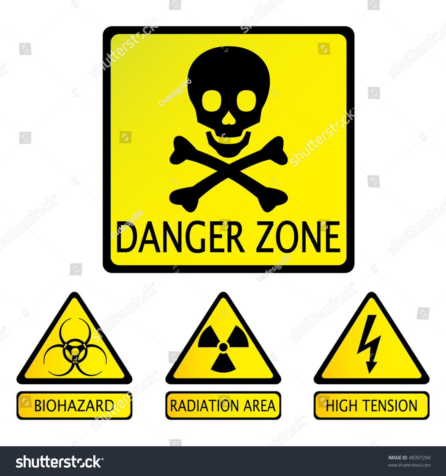 Danger Zone Stock Vector 48397294 - Shutterstock