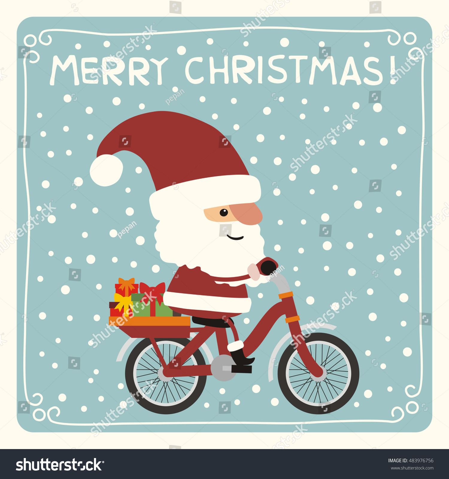 Merry Christmas Funny Santa Claus Gifts Stock Vector (Royalty Free ...