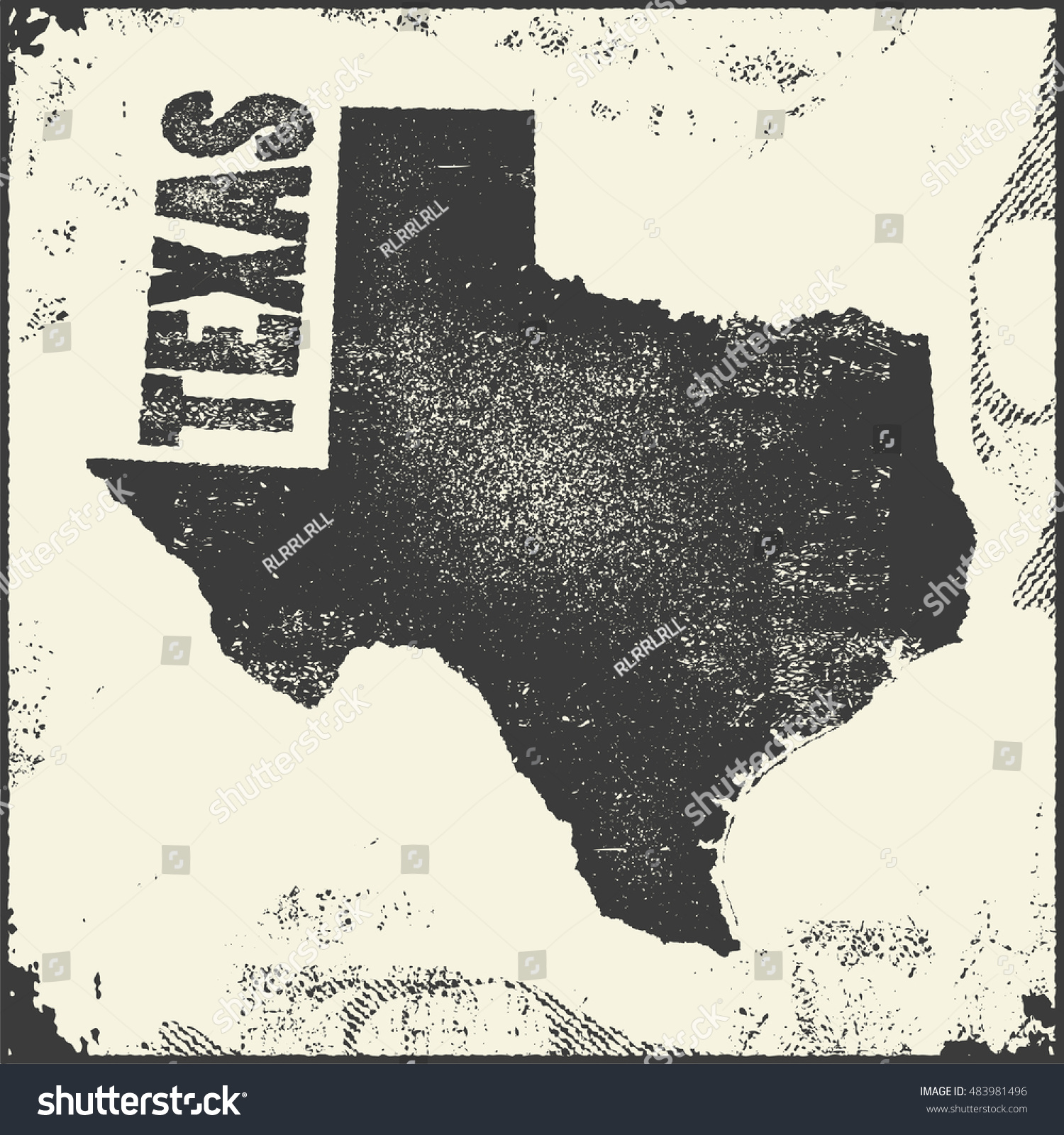Texas Vector Map Stamp Retro Distressed Stock Vector - Us map texas vector