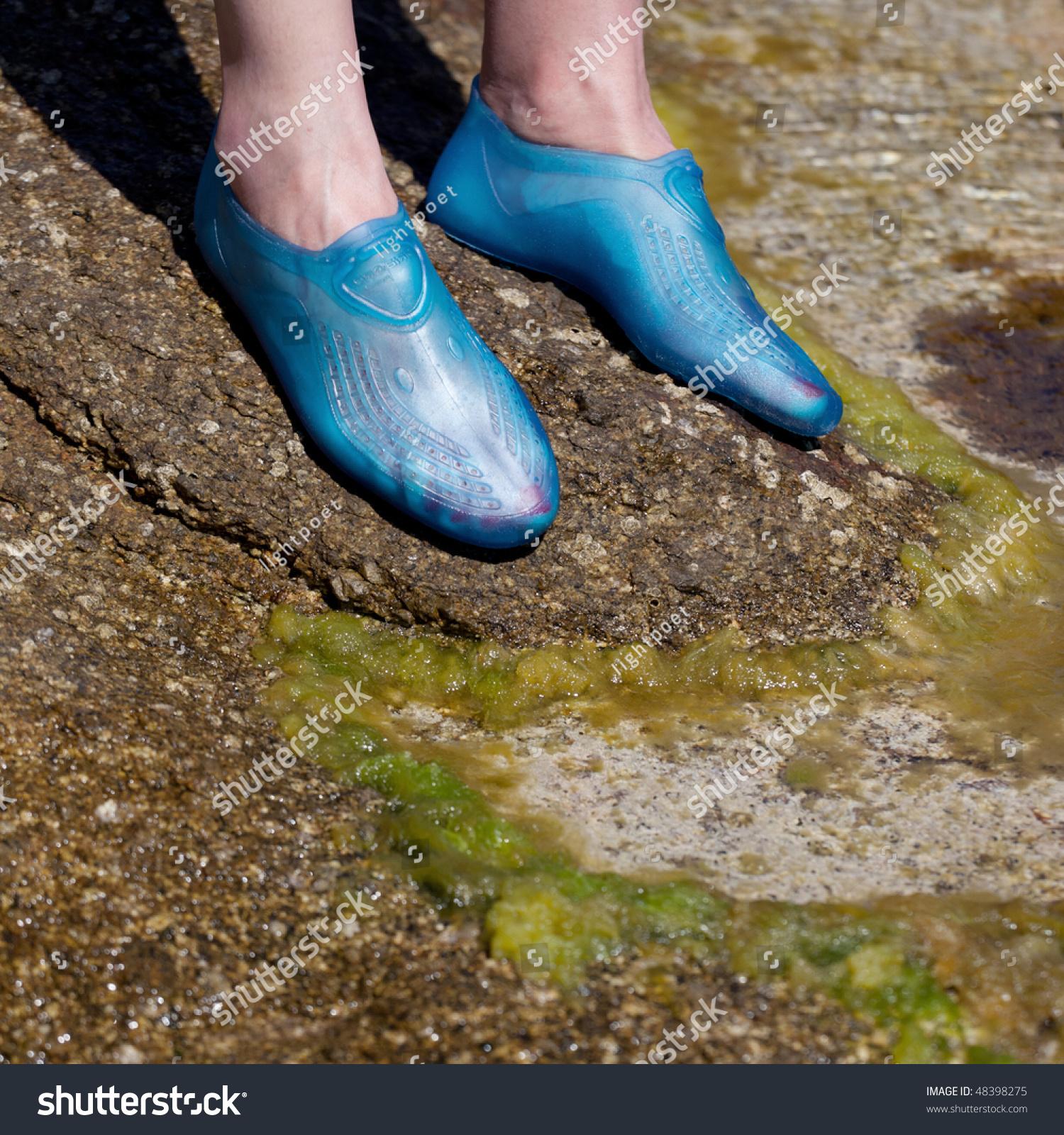 Closeup Young Womans Feet Wearing Swim Stock Photo 48398275 Shutterstock