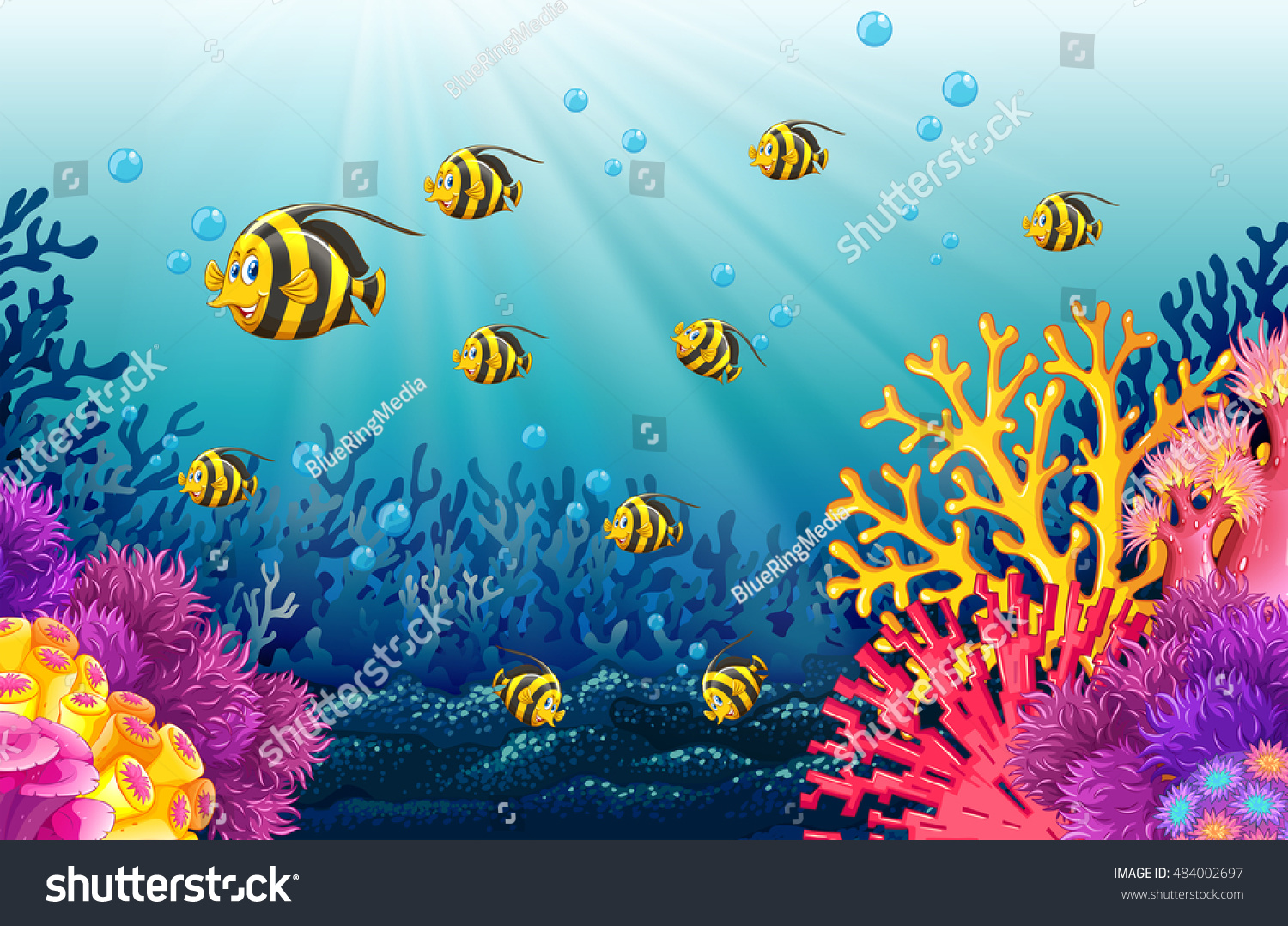 Lots of fish under the sea illustration 484002697 for Lots of fish