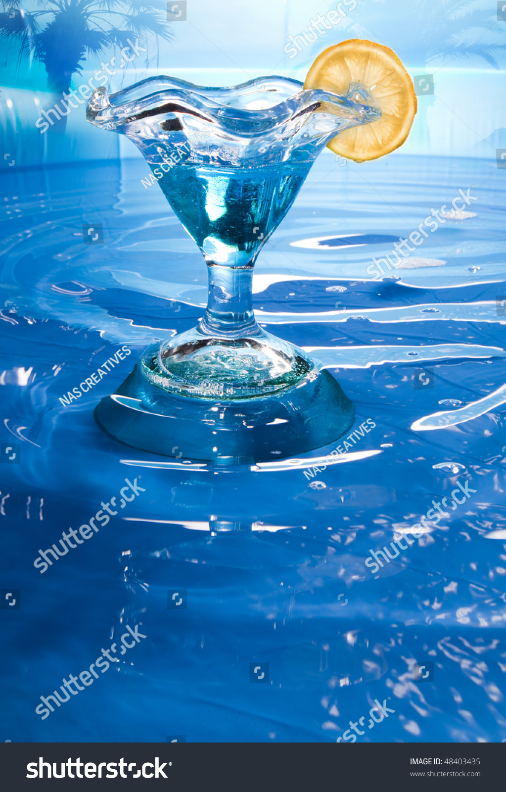 Cocktail Near The Swimming Pool Stock Photo 48403435 Shutterstock