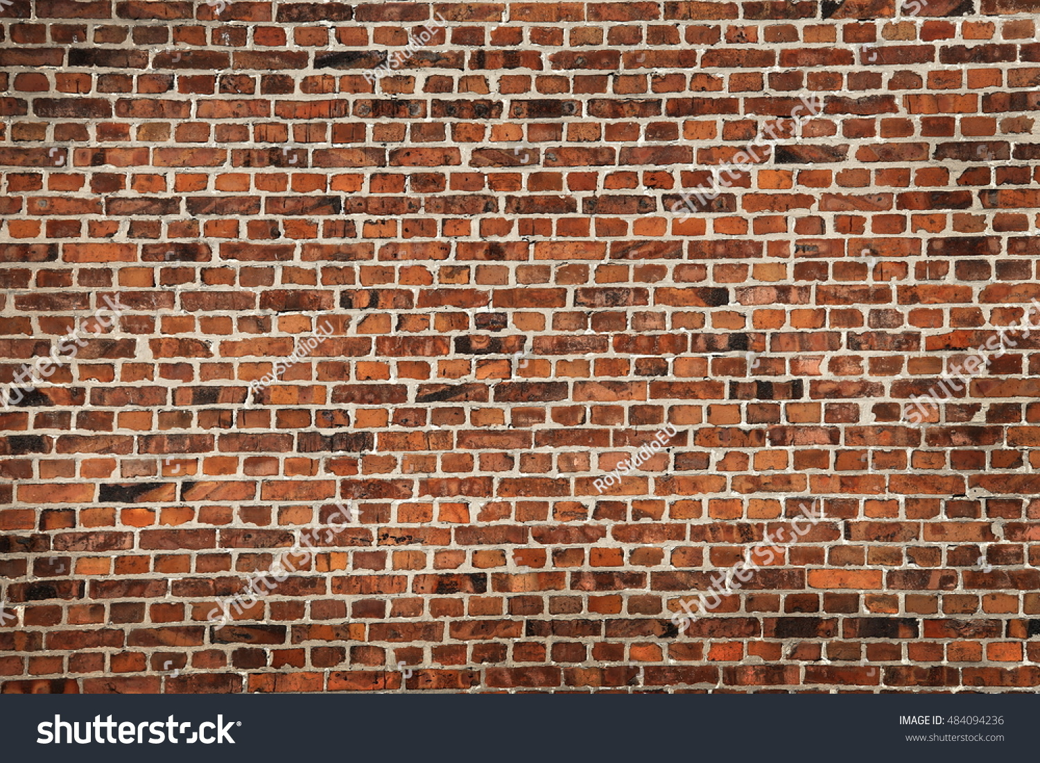 Red Brick Wall Texture Grunge Background Stock Photo