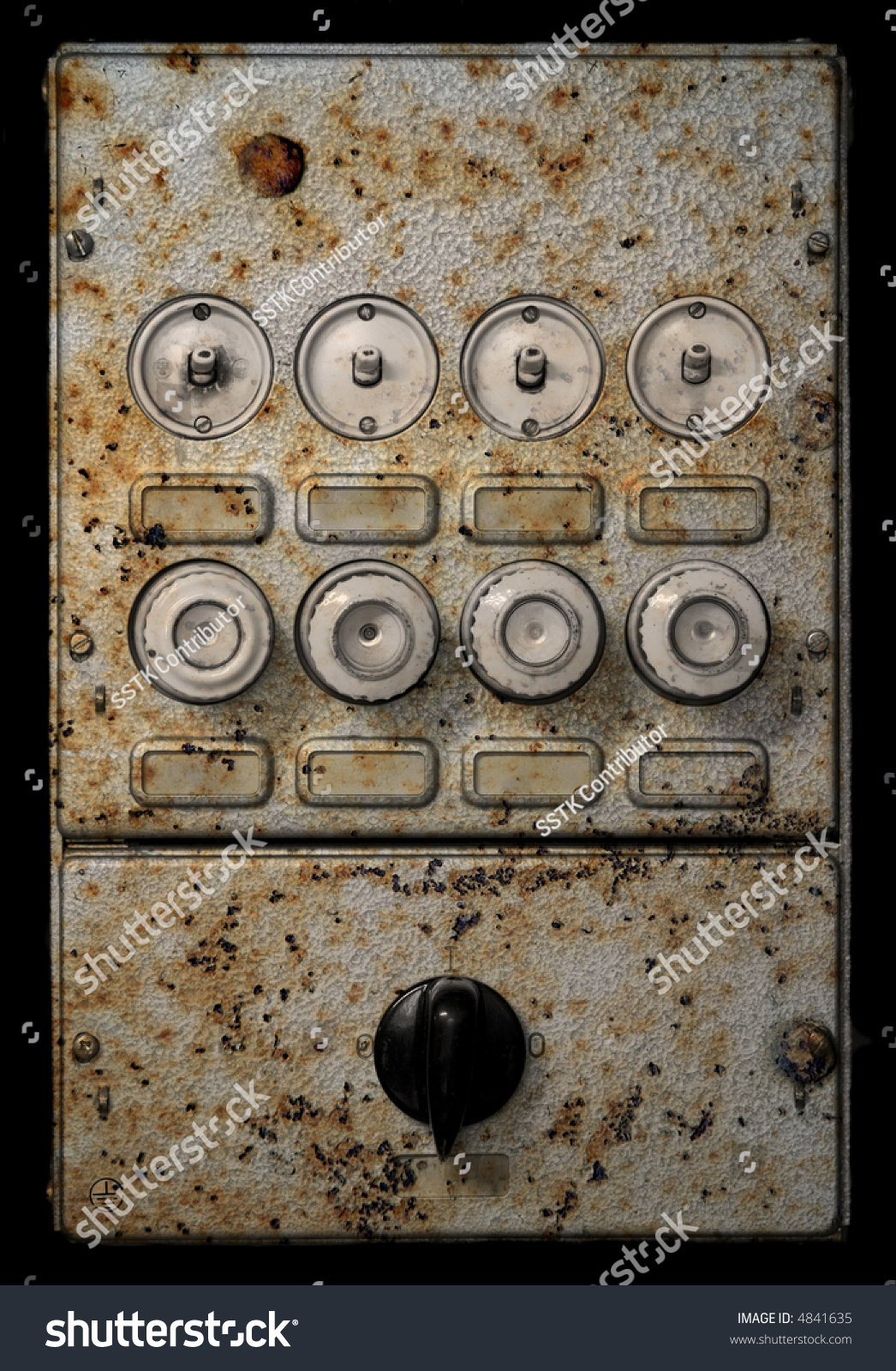 Old Grungy Fuse Box Stock Photo Edit Now 4841635 Shutterstock Help