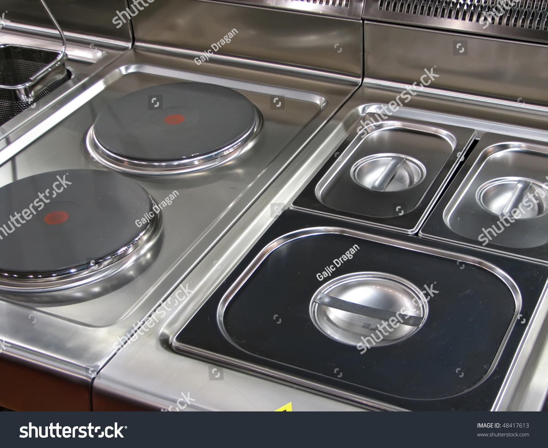 Electric Kitchen Stove Electric Stove Electric Kitchen Stove Stock Photo 48417613