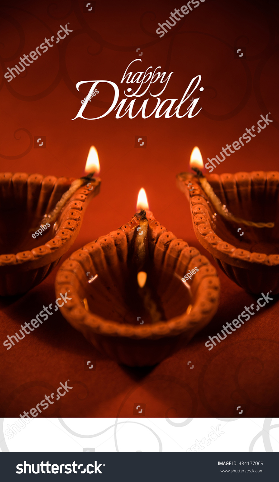 Happy Diwali Happy Deepavali Greeting Card Stock Photo Royalty Free