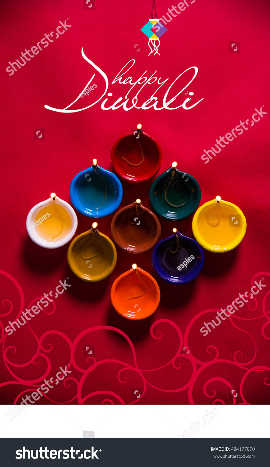 Happy Diwali Happy Deepavali Greeting Card Stock Photo Edit Now