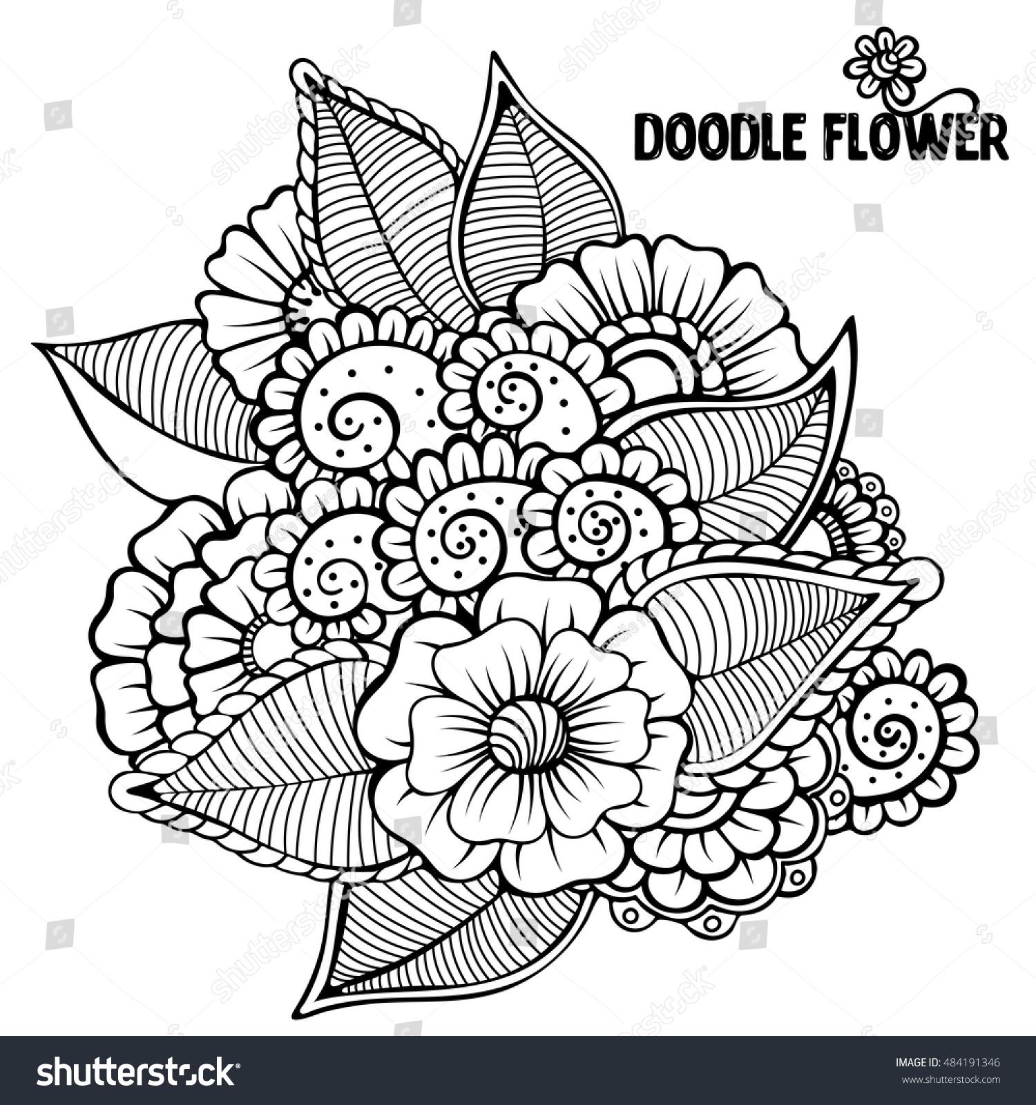 Flowers Vector Flowers Doodle Flowers Zentangle Stock Vector HD ...