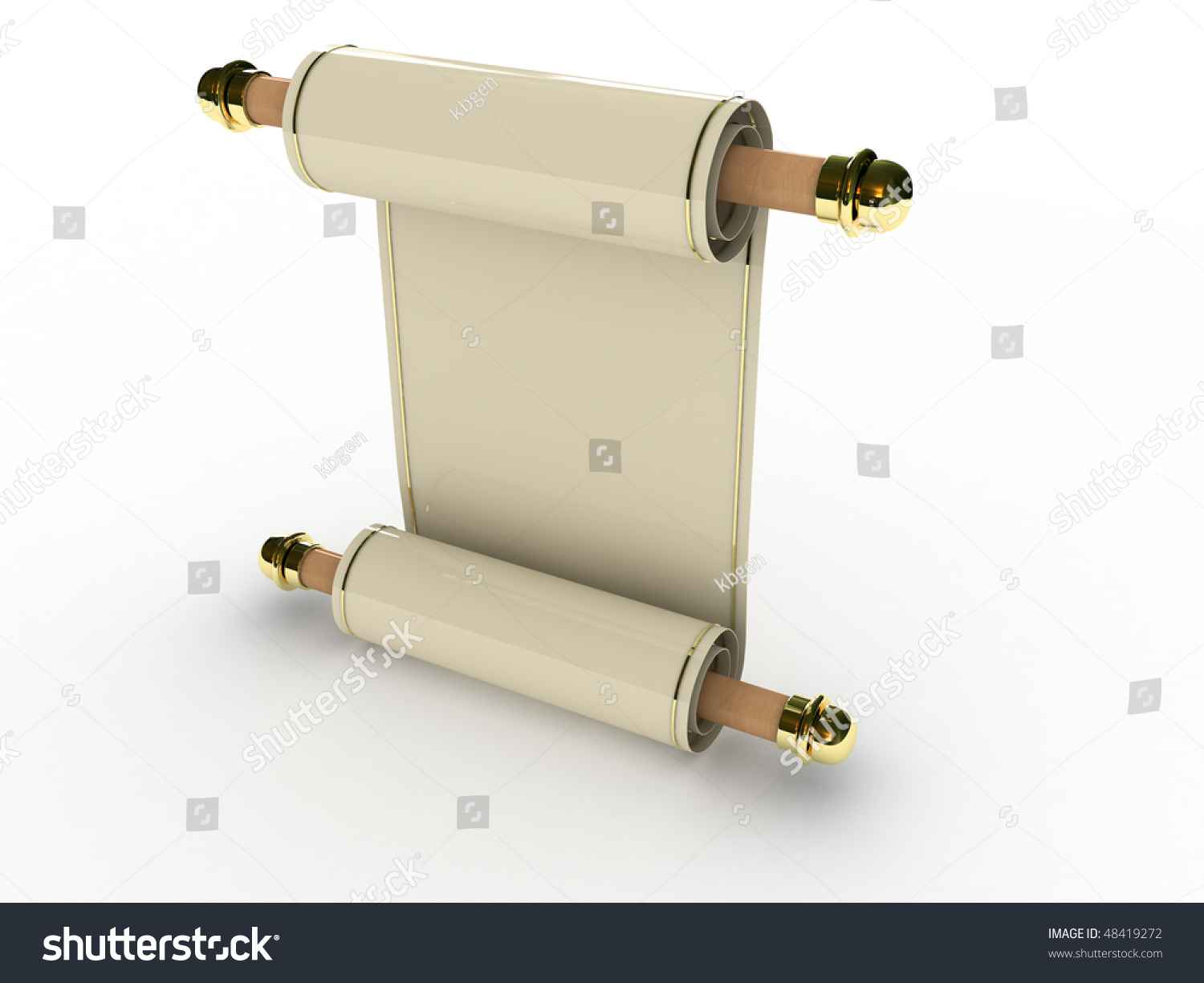 Blank Paper 3 D Model Stock Illustration 48419272 - Shutterstock