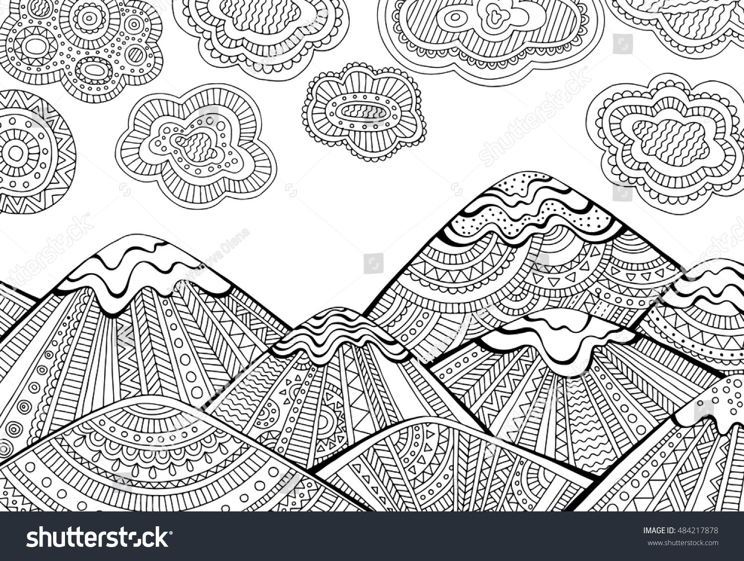 prairie landscapes coloring pages mountain