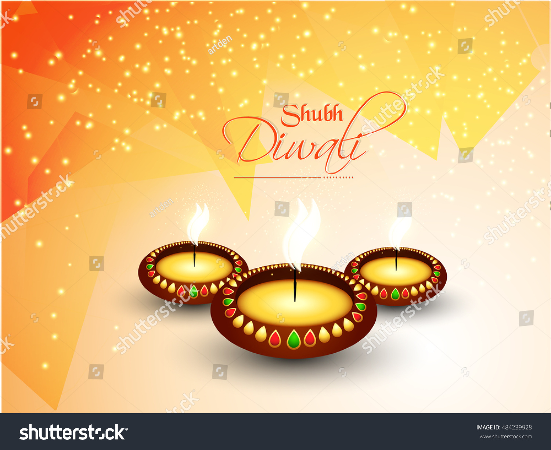 Creative Vector Abstract Shubh Diwali Nice Stock Vector 484239928 ...