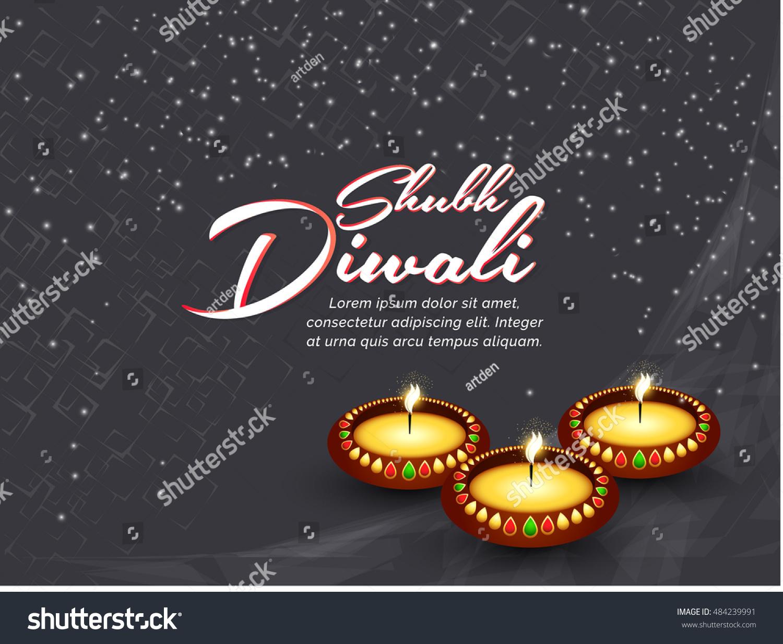 Creative Vector Abstract Shubh Diwali Nice Stock Vector 484239991 ...