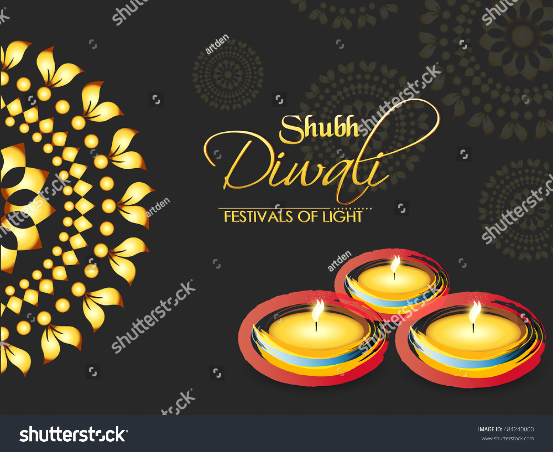 Creative Vector Abstract Shubh Diwali Nice Stock Vector (Royalty ...