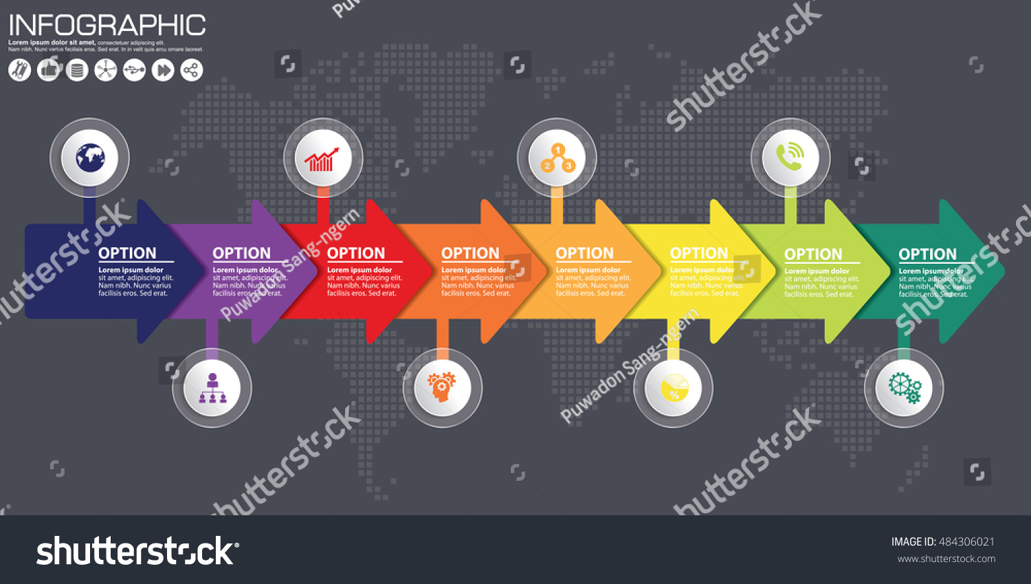 Timeline arrow vector infographic world map stock vector 484306021 timeline and arrow vector infographic world map background gumiabroncs Image collections