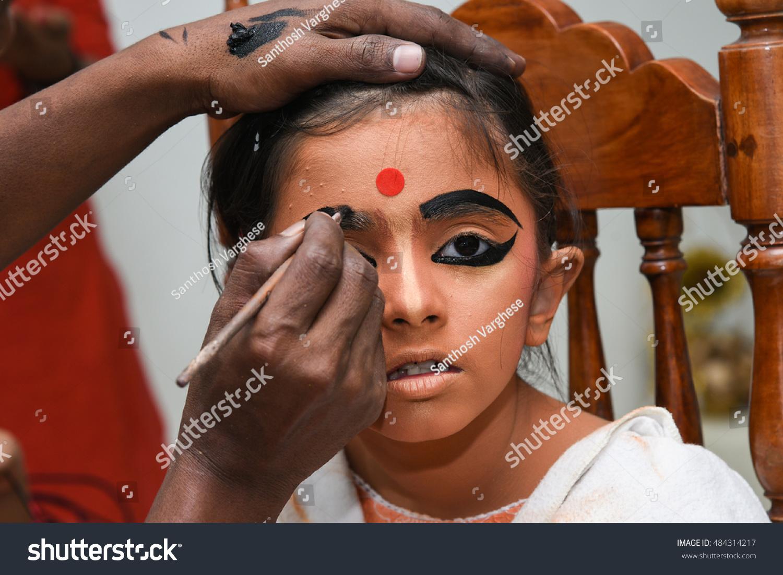 Makeup Artist Draws Eyebrow Young Indian Stock Photo Edit Now