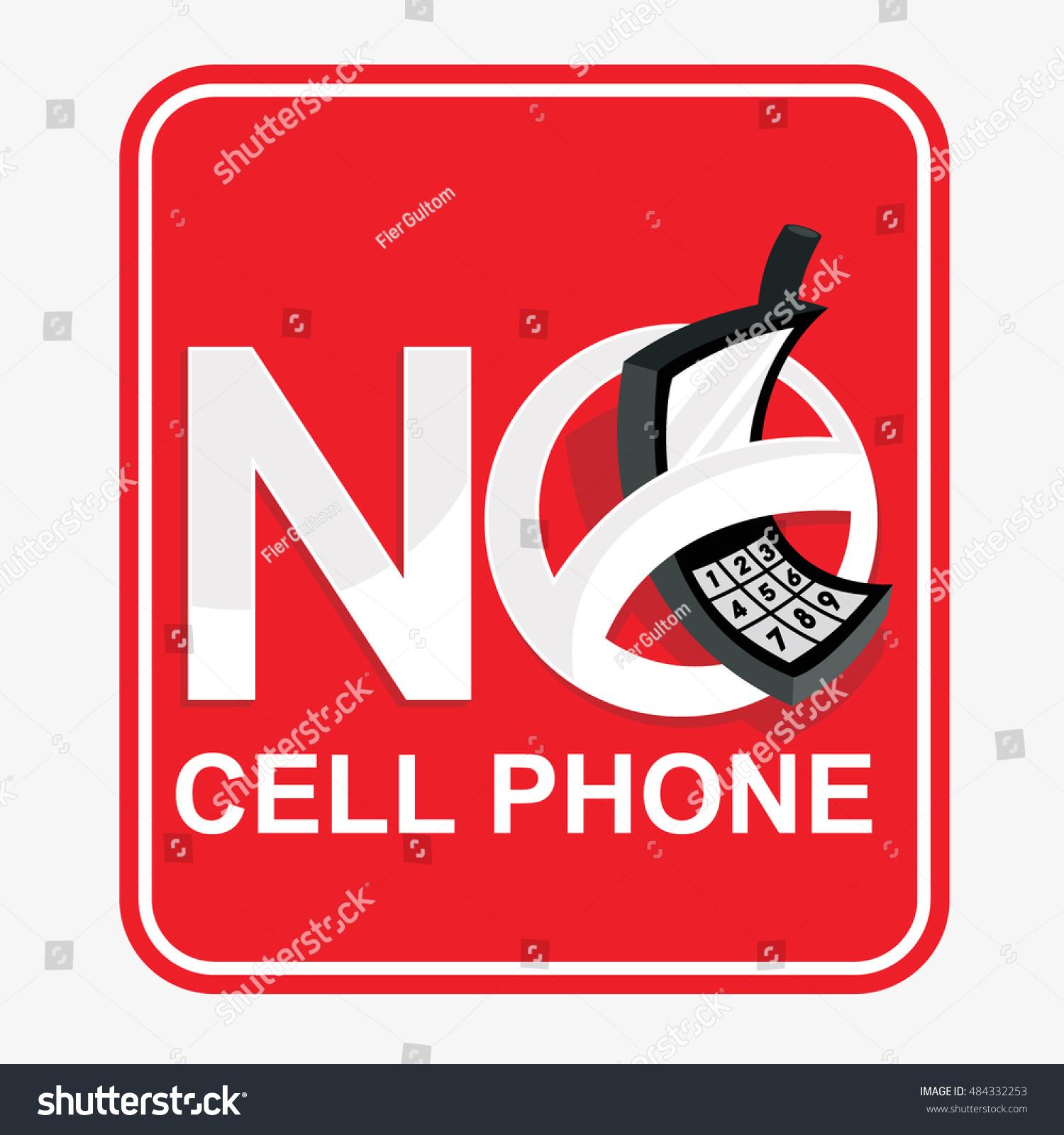Vector Symbol No Cell Phone Sign Stock Photo Photo Vector