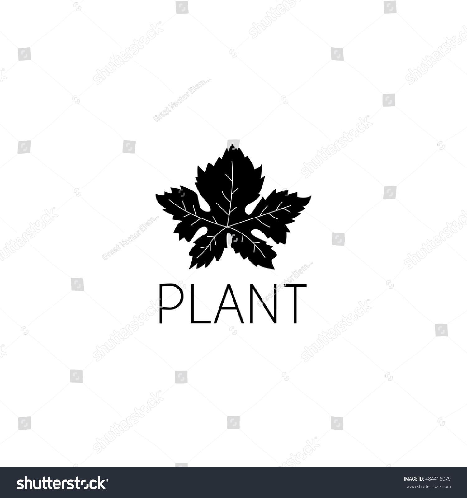 Leaf Logo Graphic Design Concept Editable Stock Vector 484416079 ...