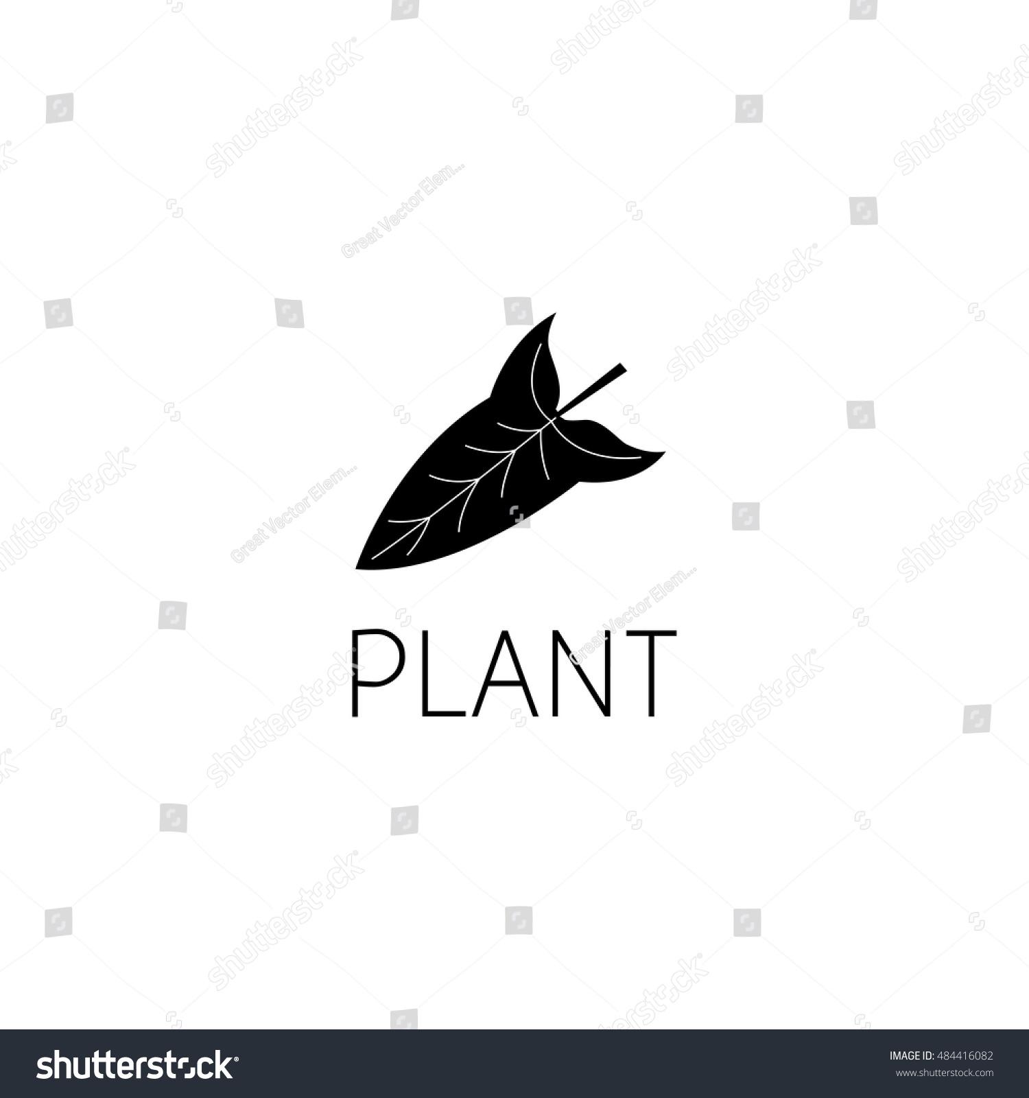 Leaf Logo Graphic Design Concept Editable Stock Vector 484416082 ...
