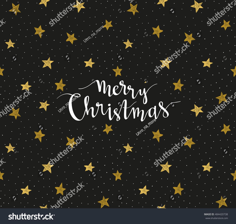 merry christmas greeting card season vector stock vector  season vector holiday poster template handwritten text on the black