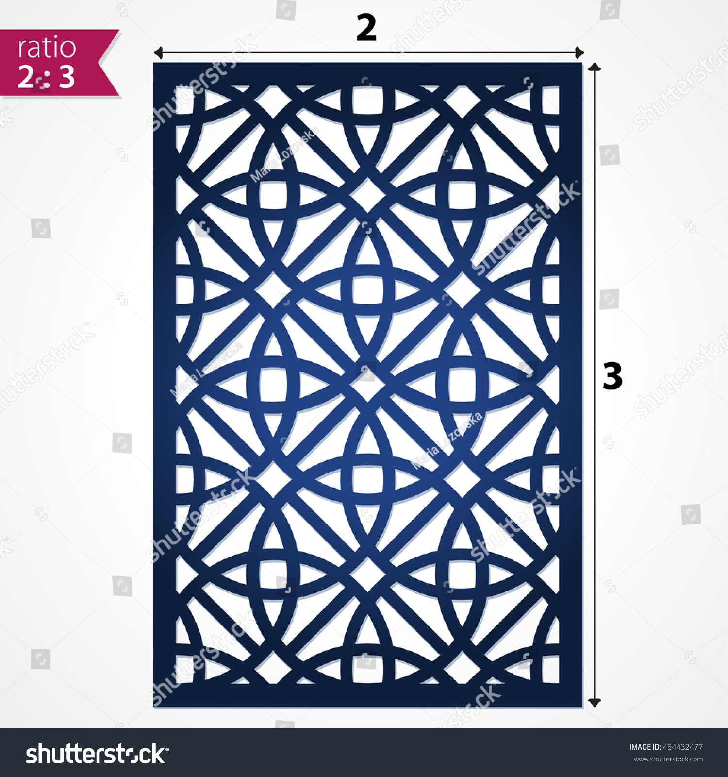 Cut Out Decorative Wall Panels : Laser cut pattern template wood screen stock vector