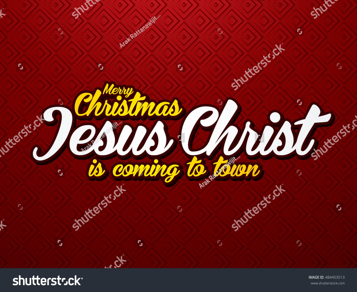 Merry Christmas Jesus Christ Coming Town Stock Vector (Royalty Free ...