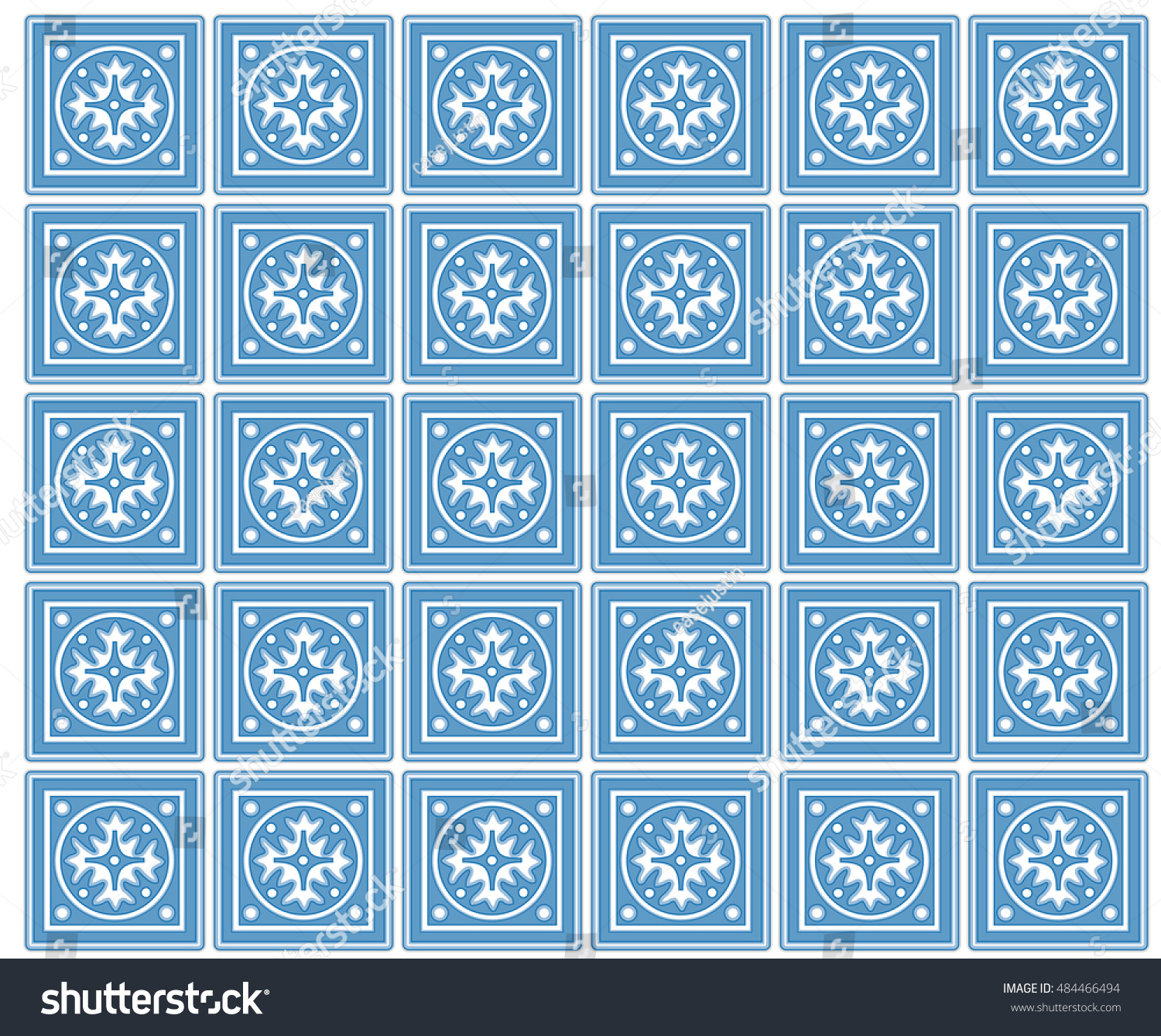 Kitchen Tiles Traditional Spanish Mexican Design Stock Illustration ...