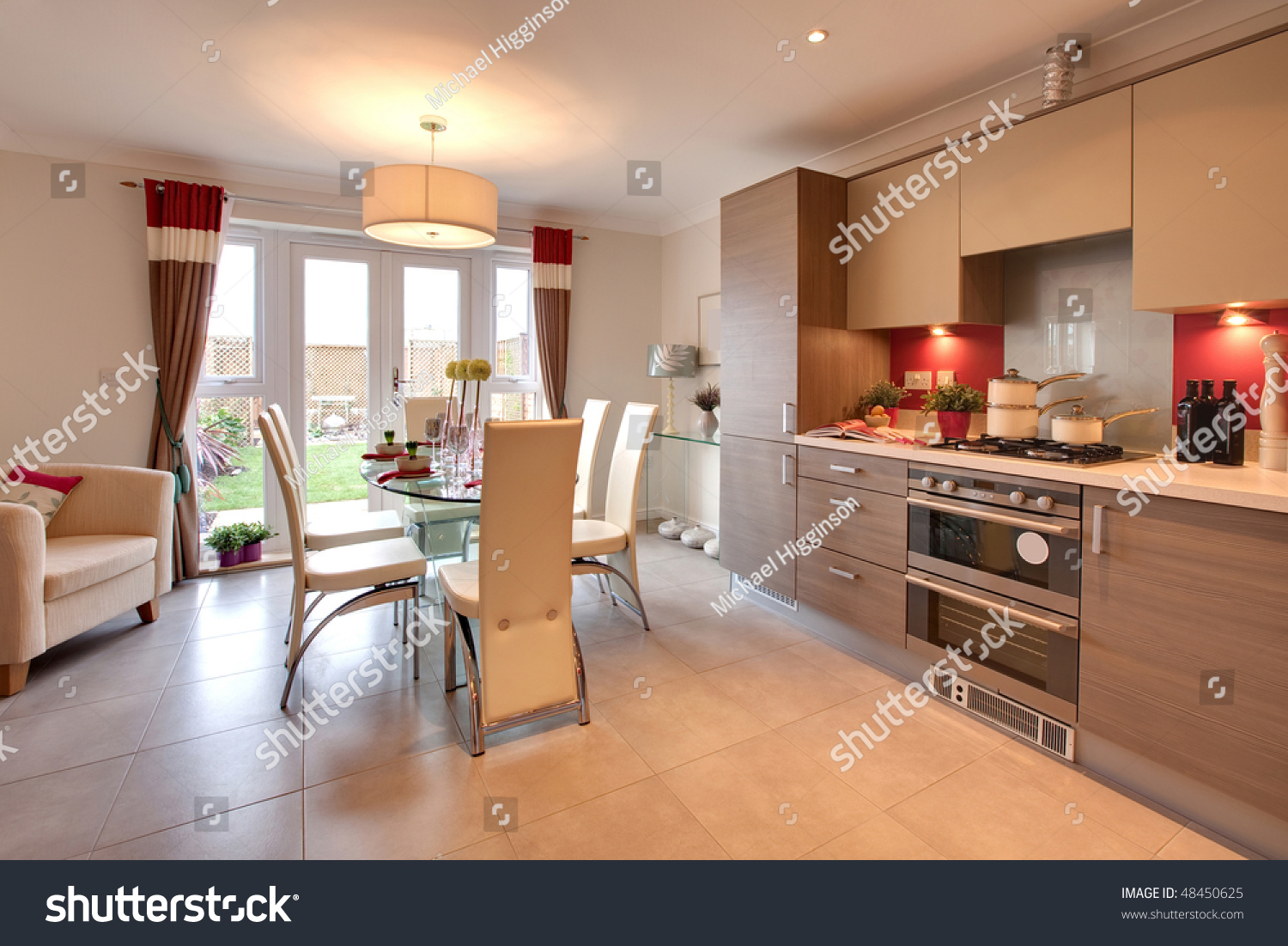 Kitchen Dinner Stylish Modern Kitchen With Table Set For Dinner Within Chic Home