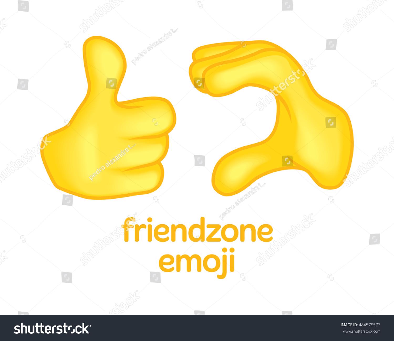 Friendzone Sign Symbol Emoji Emoticon Emotion Stock Vector Royalty