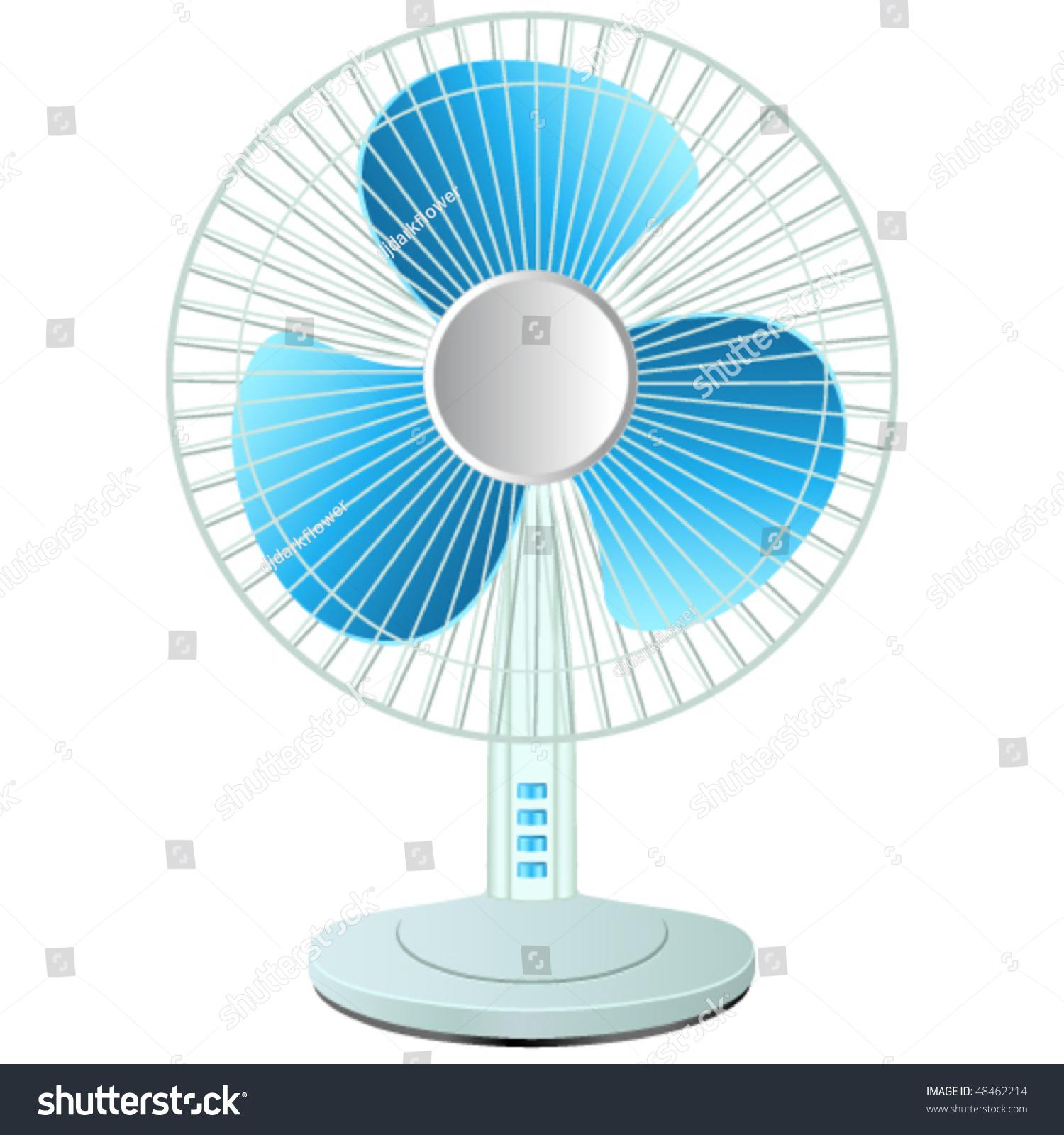 Cooling Fan Clip Art : Table fan vector illustration stock
