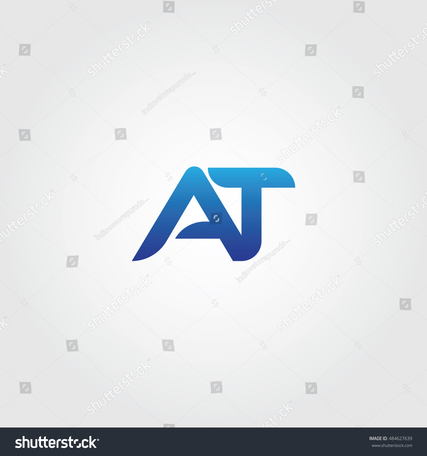 eb1242b9c The letters A and T combined Icon Logo Templates. AT Initial Vector Design  Element For Download - Vector