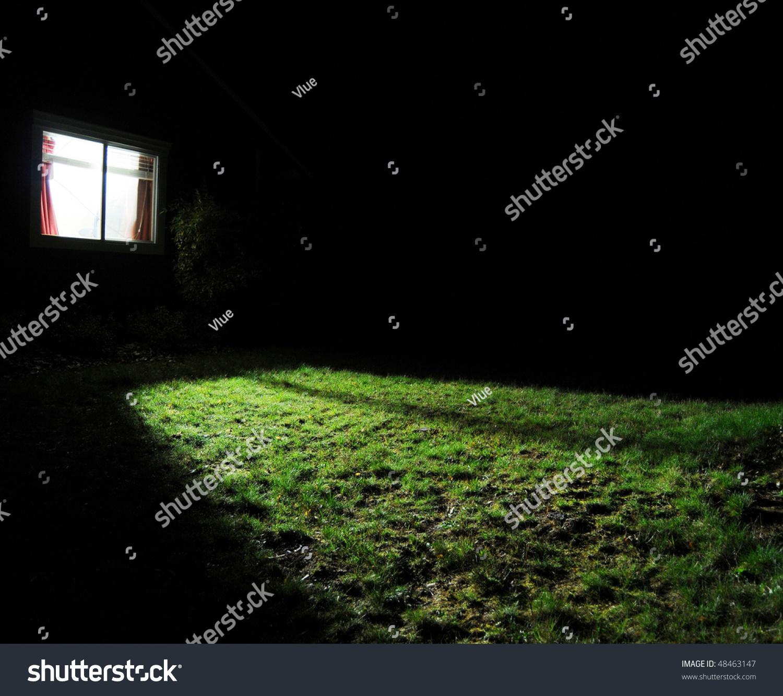 Dark room with light through window - Dark Room With Light Through Window Dark Room Light Window A Dark House At Night