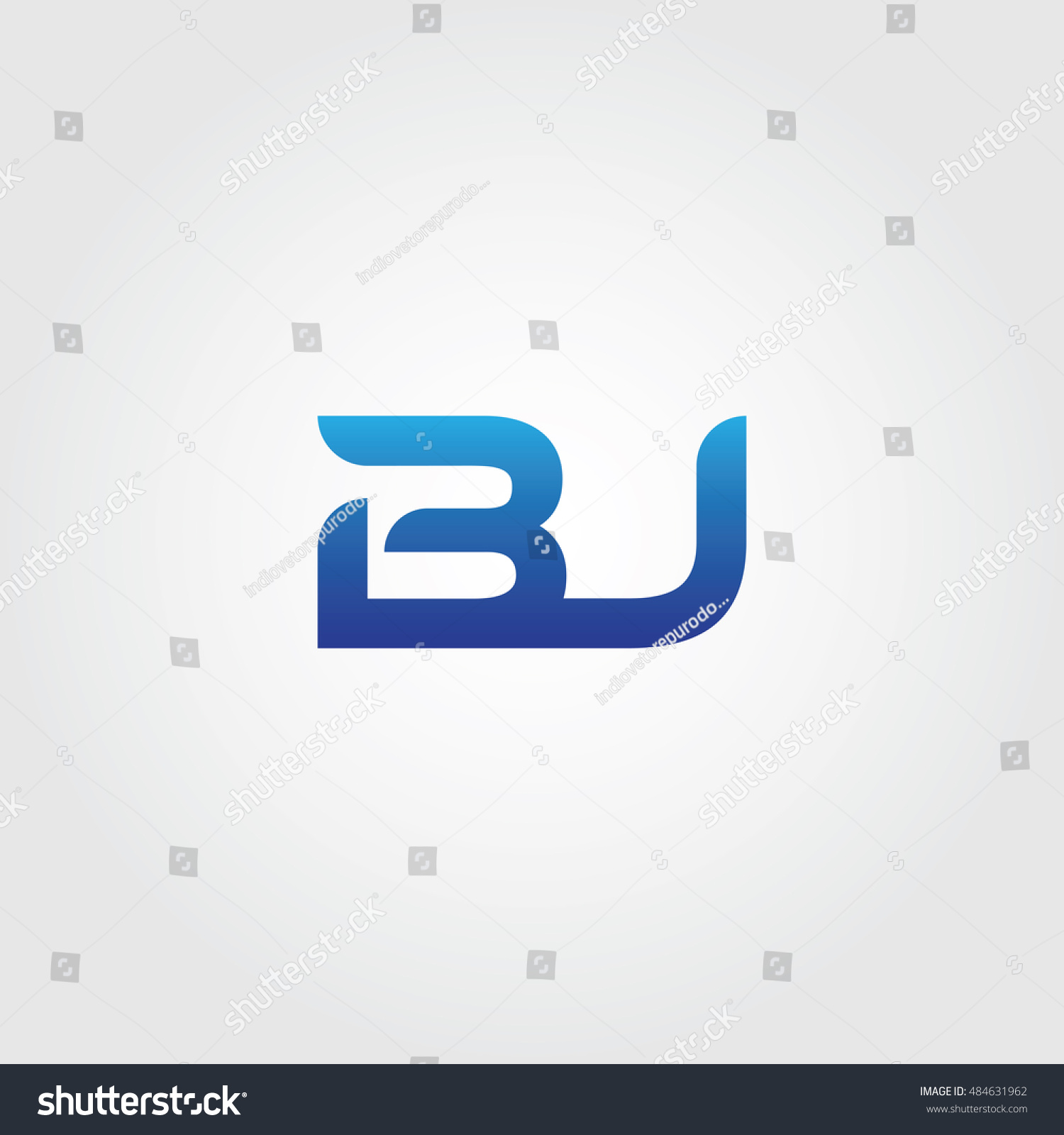 Letters B J Combined Icon Logo Stock Vector Royalty Free 484631962