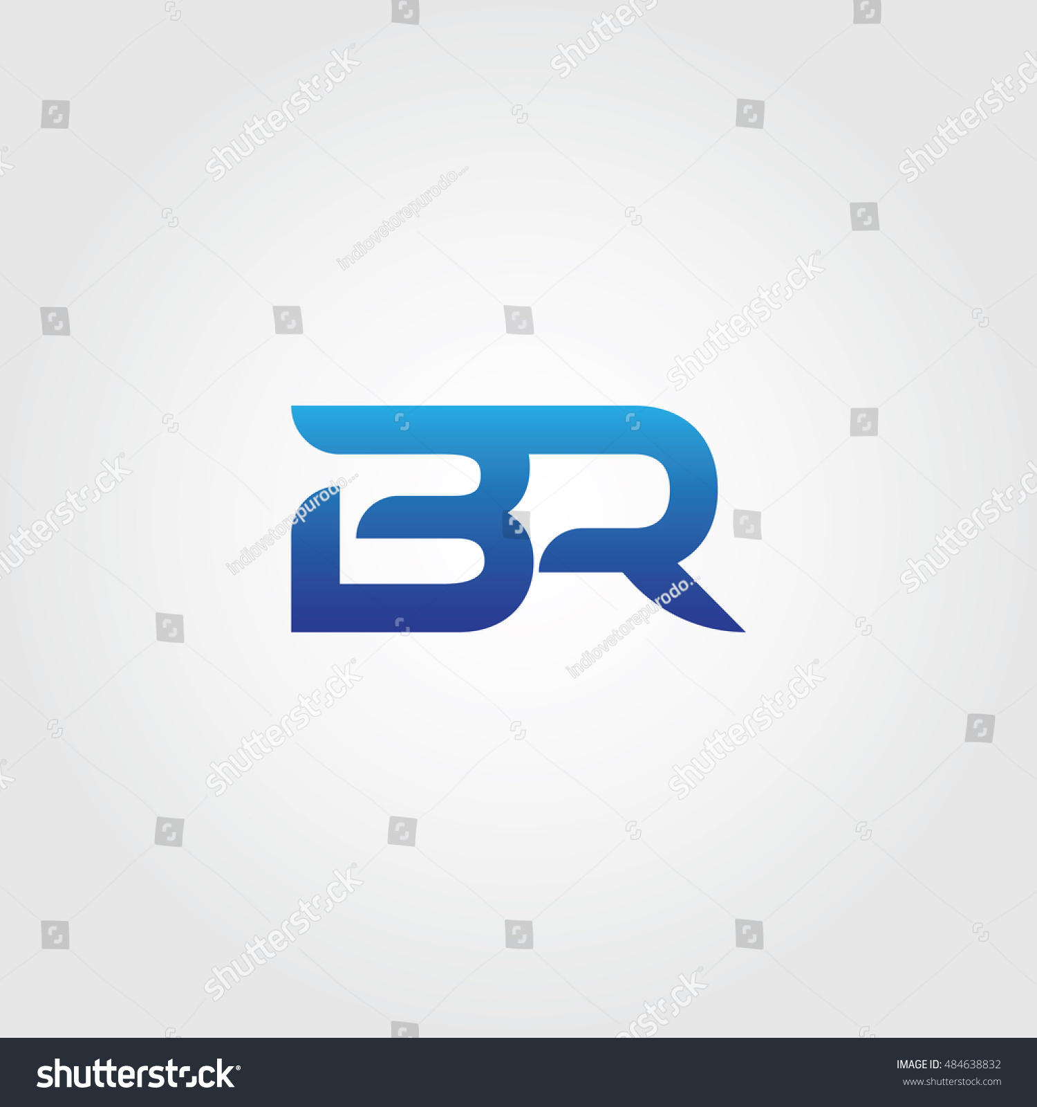 Letters B R Combined Icon Logo Stock Photo Photo Vector