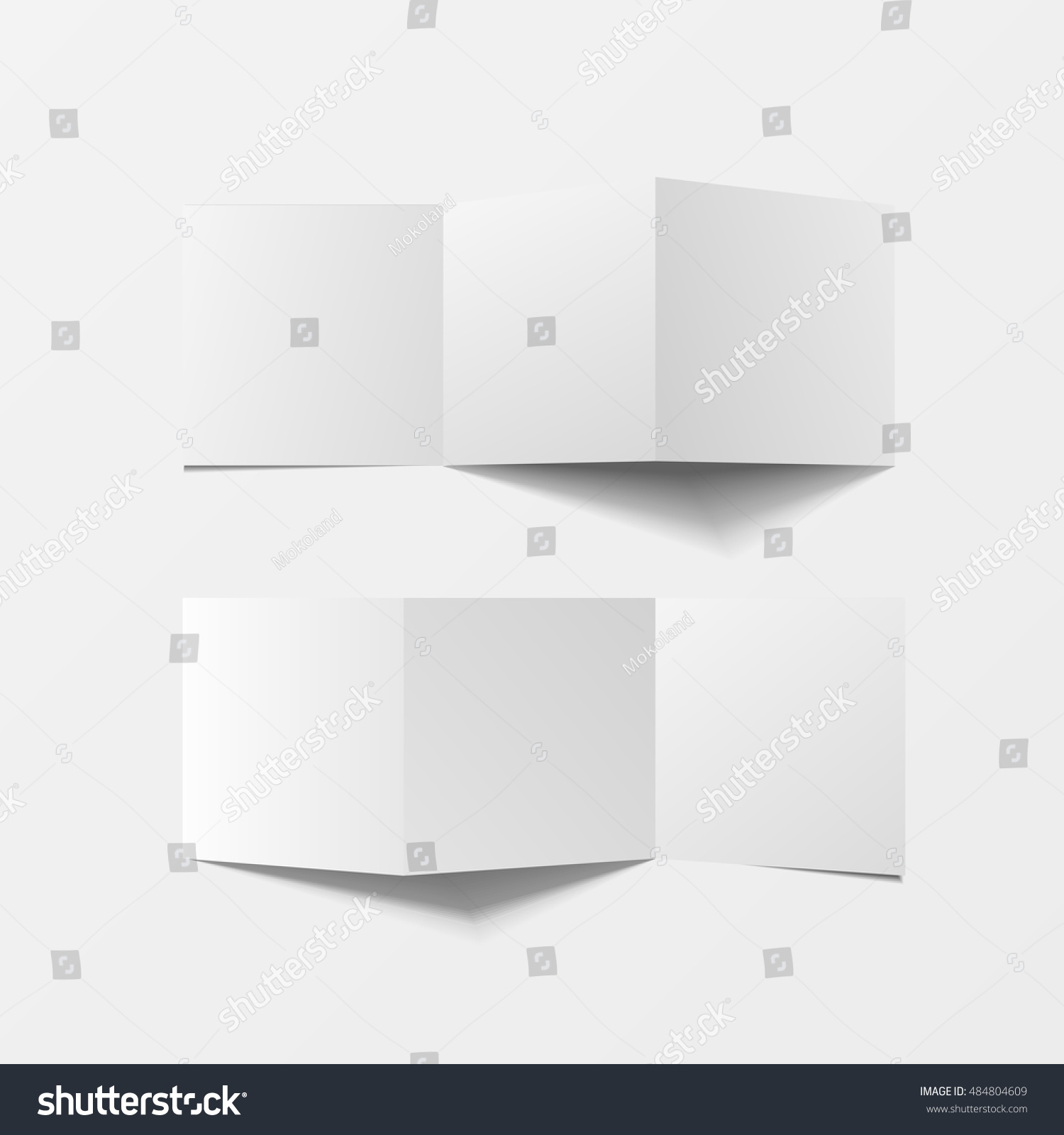 Mock 3d Leaflet Blank Top View Vector 484804609 Shutterstock – Pamphlet Layout Template