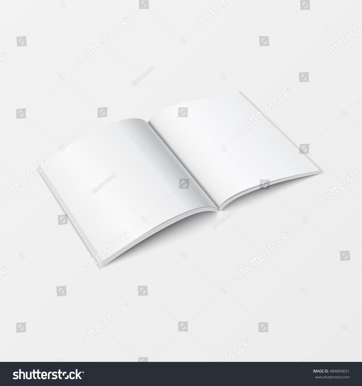 Mock Up 3d Booklet Blank Top View For Brochure Leaflet Pamphlet
