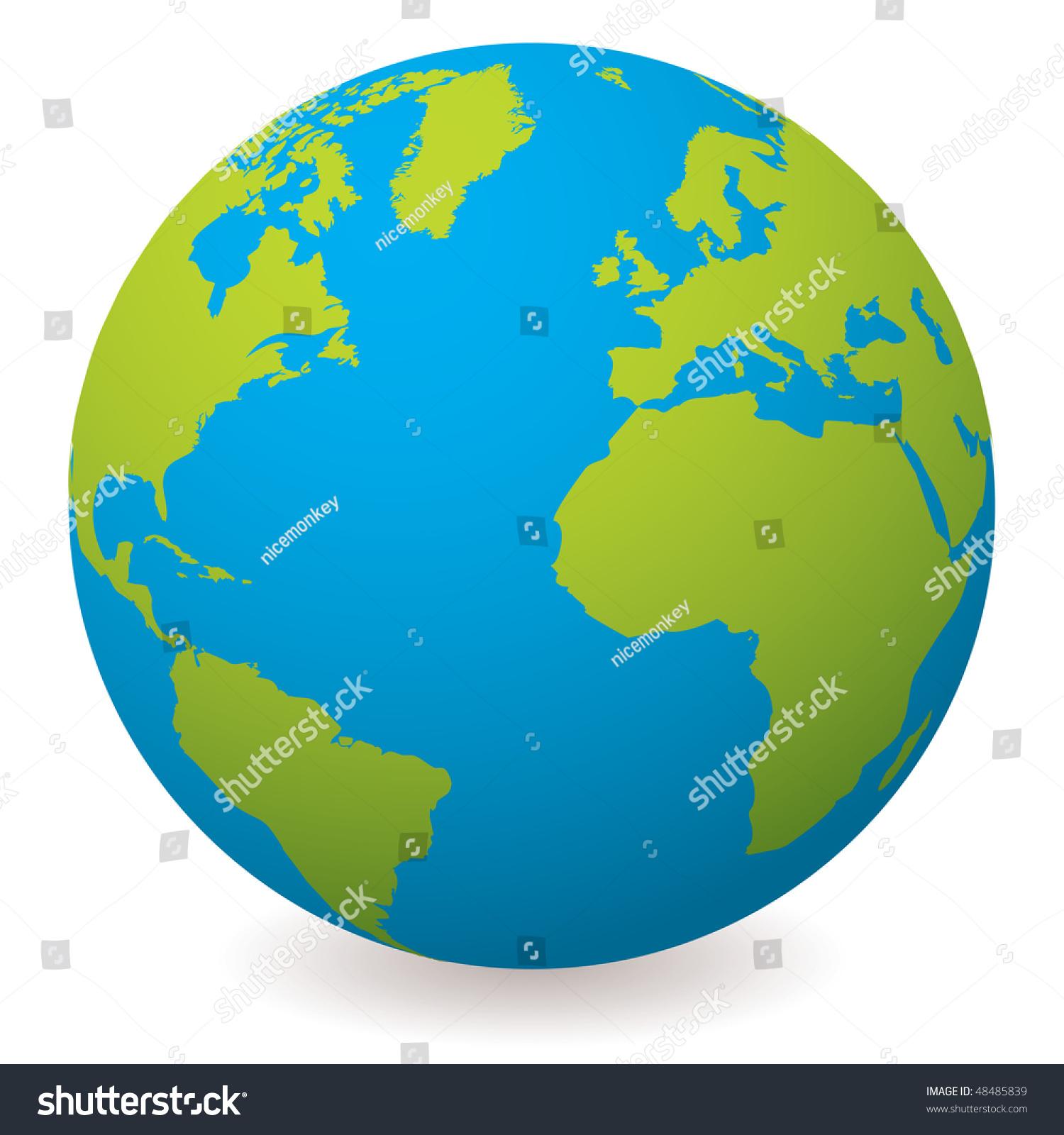 Рисунок земного шара 6
