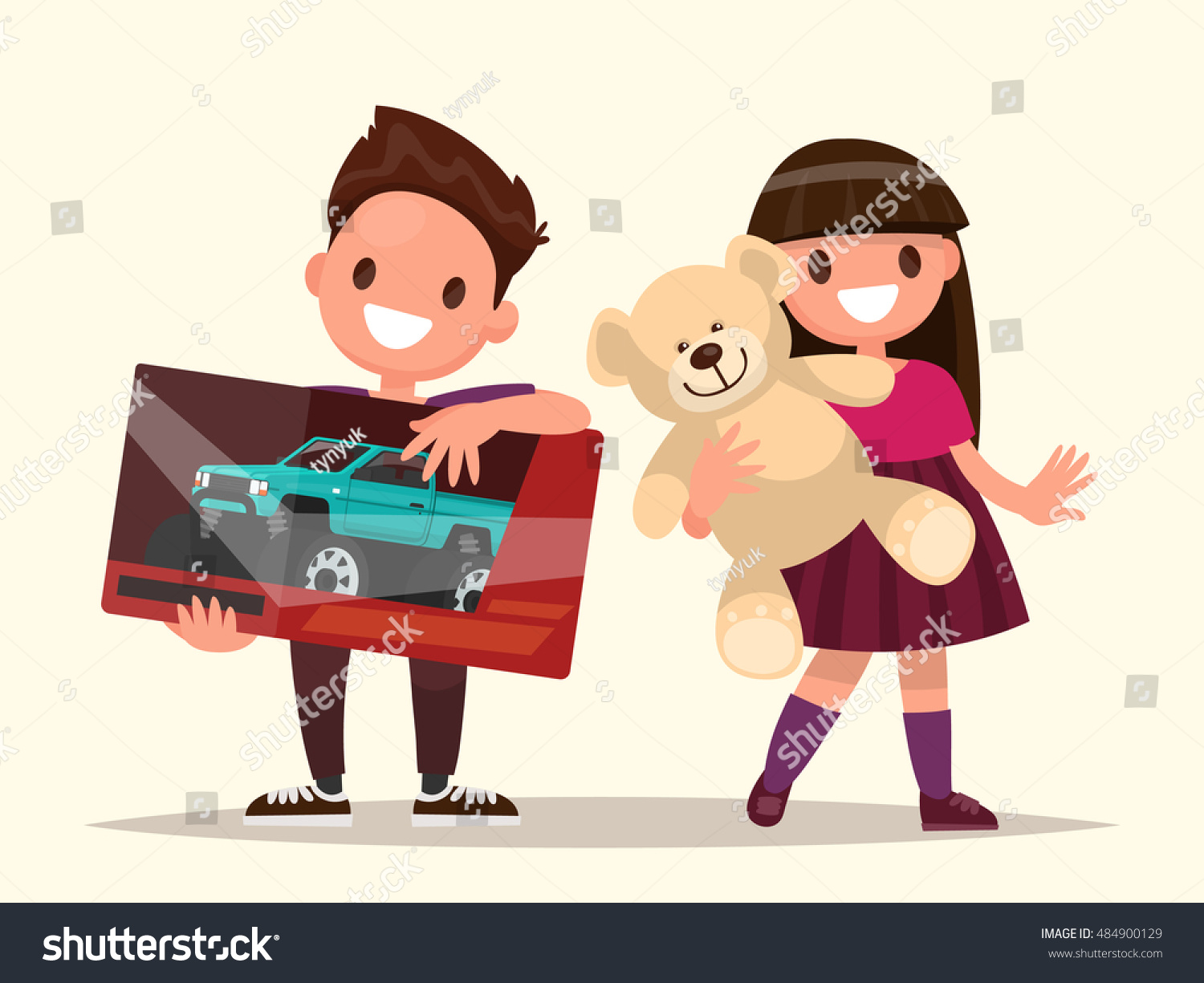 Baby Gift Vector : Baby gifts children toys vector illustration stock