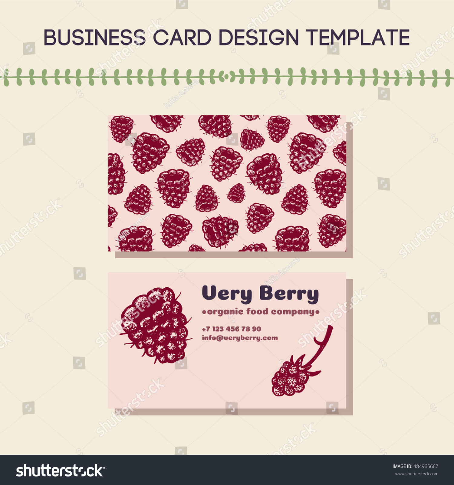 Business card concept food related company stock vector 484965667 business card concept for food related company or farm hand drawn raspberry illustration and pattern magicingreecefo Choice Image