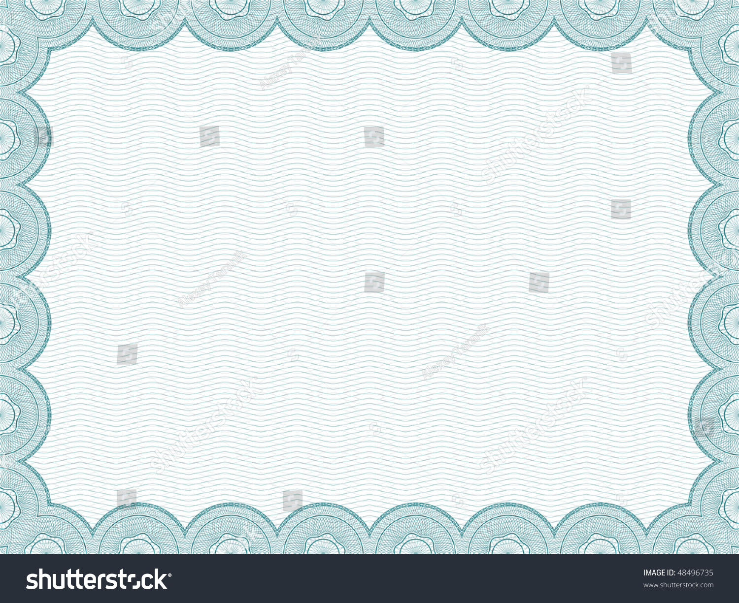 raster version secure blank certificate template stock illustration