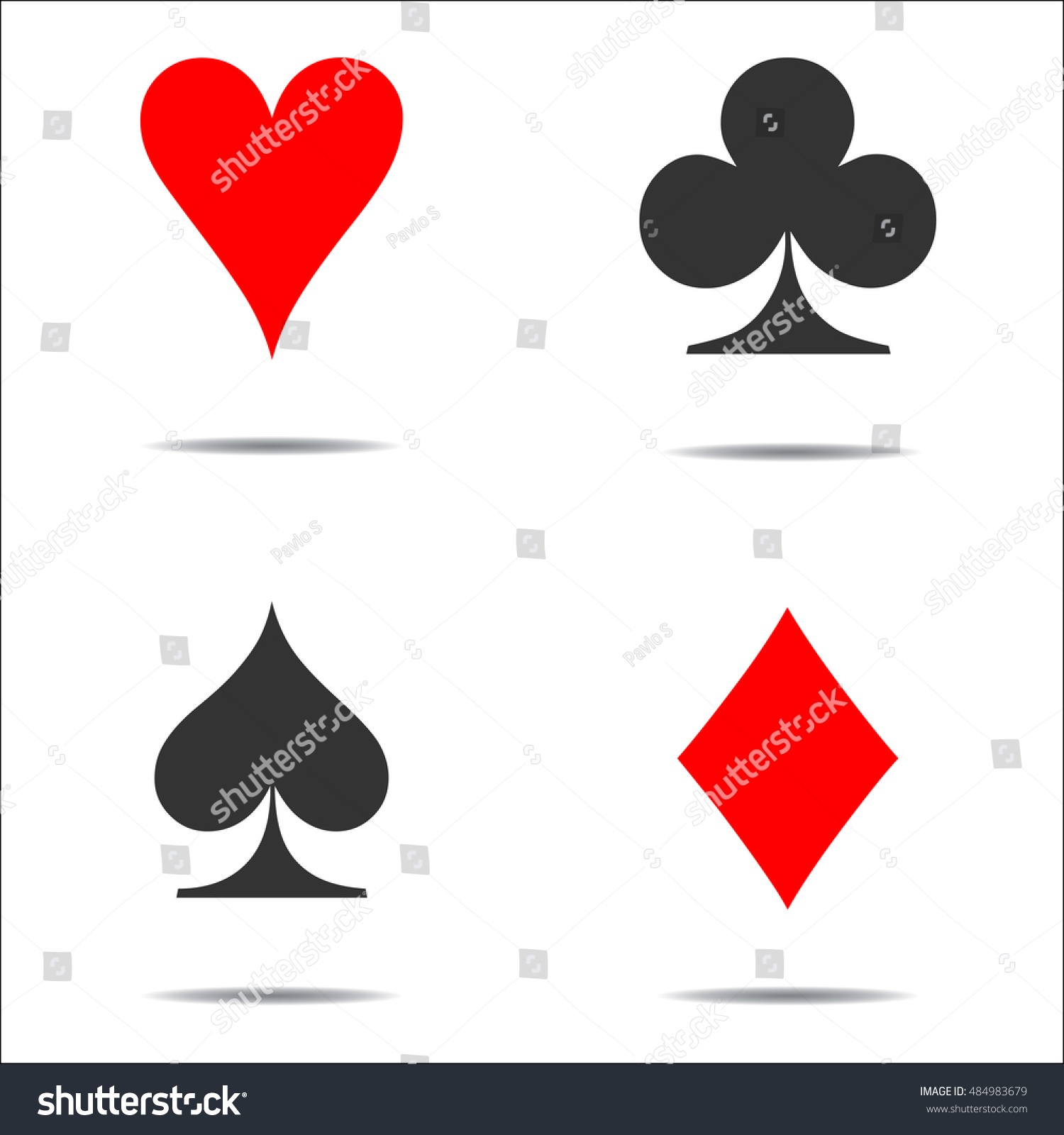 Colored card suit icon vector playing stock vector 484983679 colored card suit icon vector playing cards symbols vector set icon symbol suit biocorpaavc