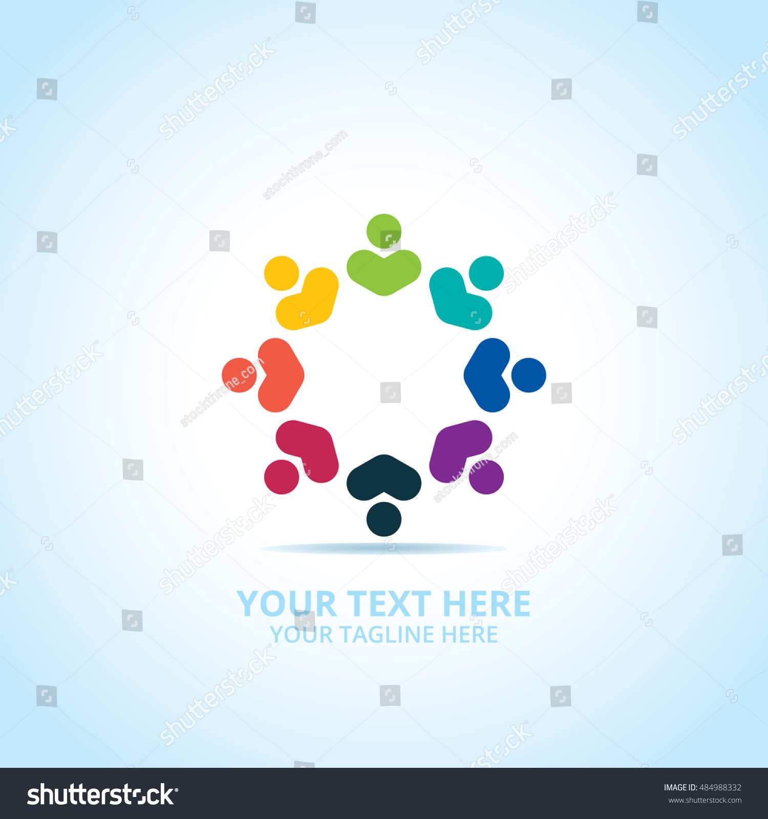 Abstract community logo design concept emblem stock vector abstract community logo design concept emblem icon flat logotype element for template sciox Images