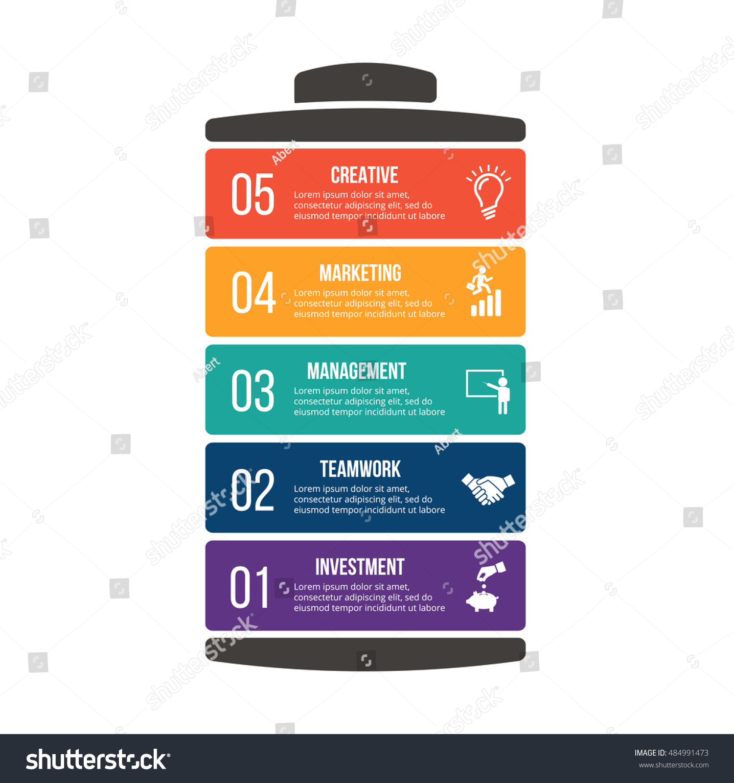 Vector Illustration Business Infographic Battery Can Stock Cell Diagram Editable Powerpoint Template Of With Be Used For Workflow Layout