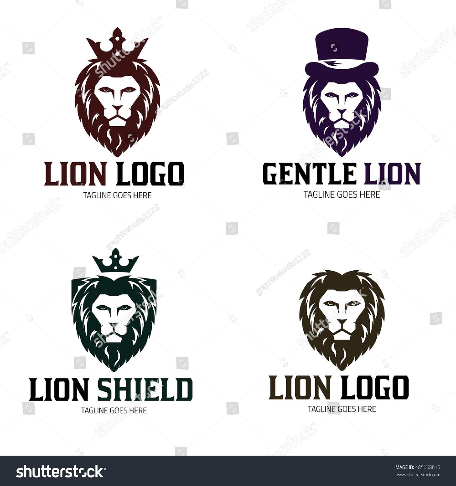 Lion Logo Design Template Lion King Stock Vector 485068015