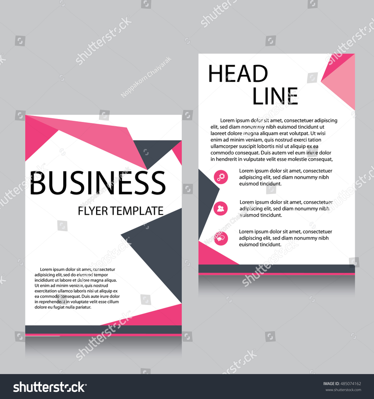 vector brochure flyer design layout template stock vector vector brochure flyer design layout template front page and back page templates website