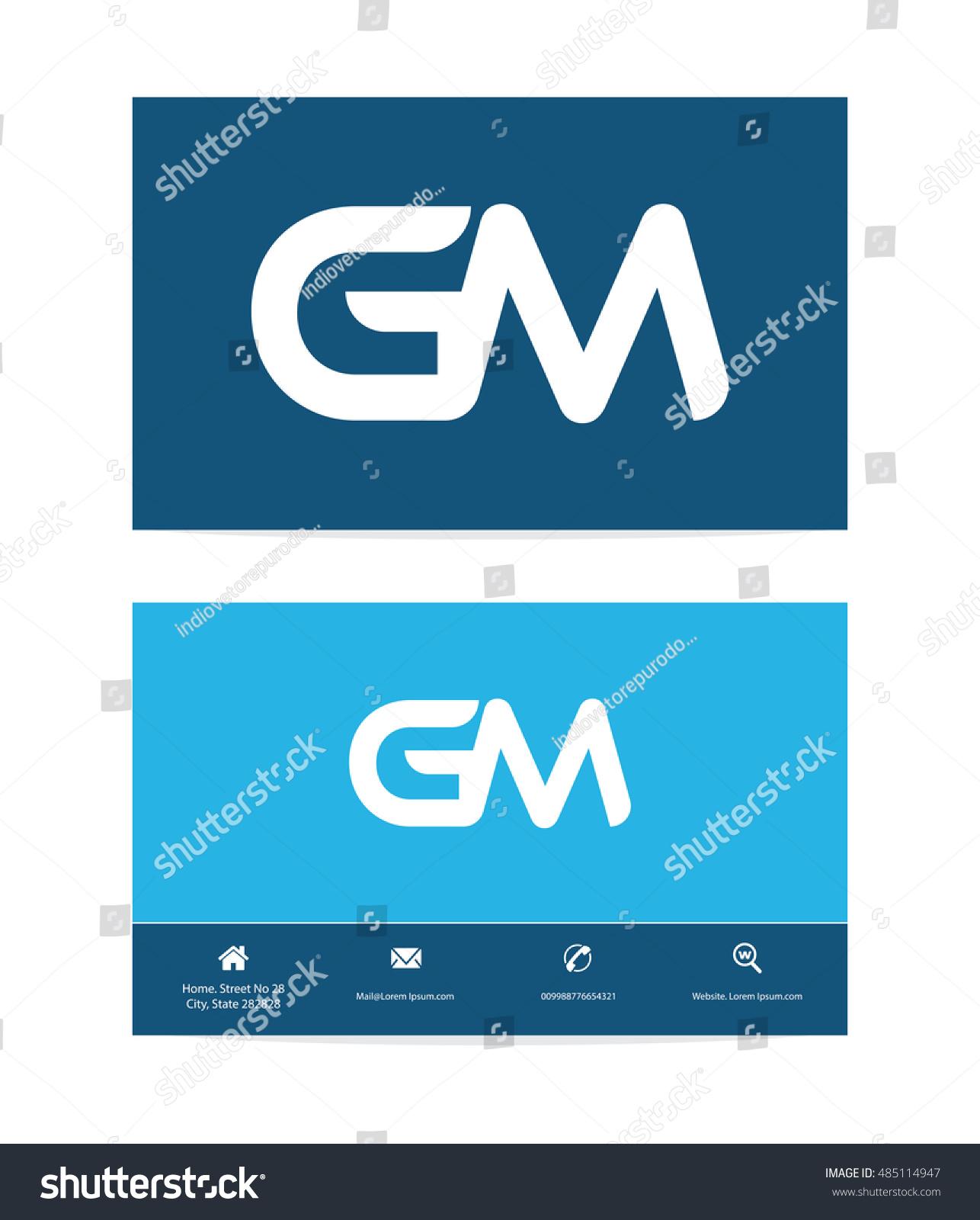 GM Letter Template Logo G M Stock Vector 485114947 - Shutterstock