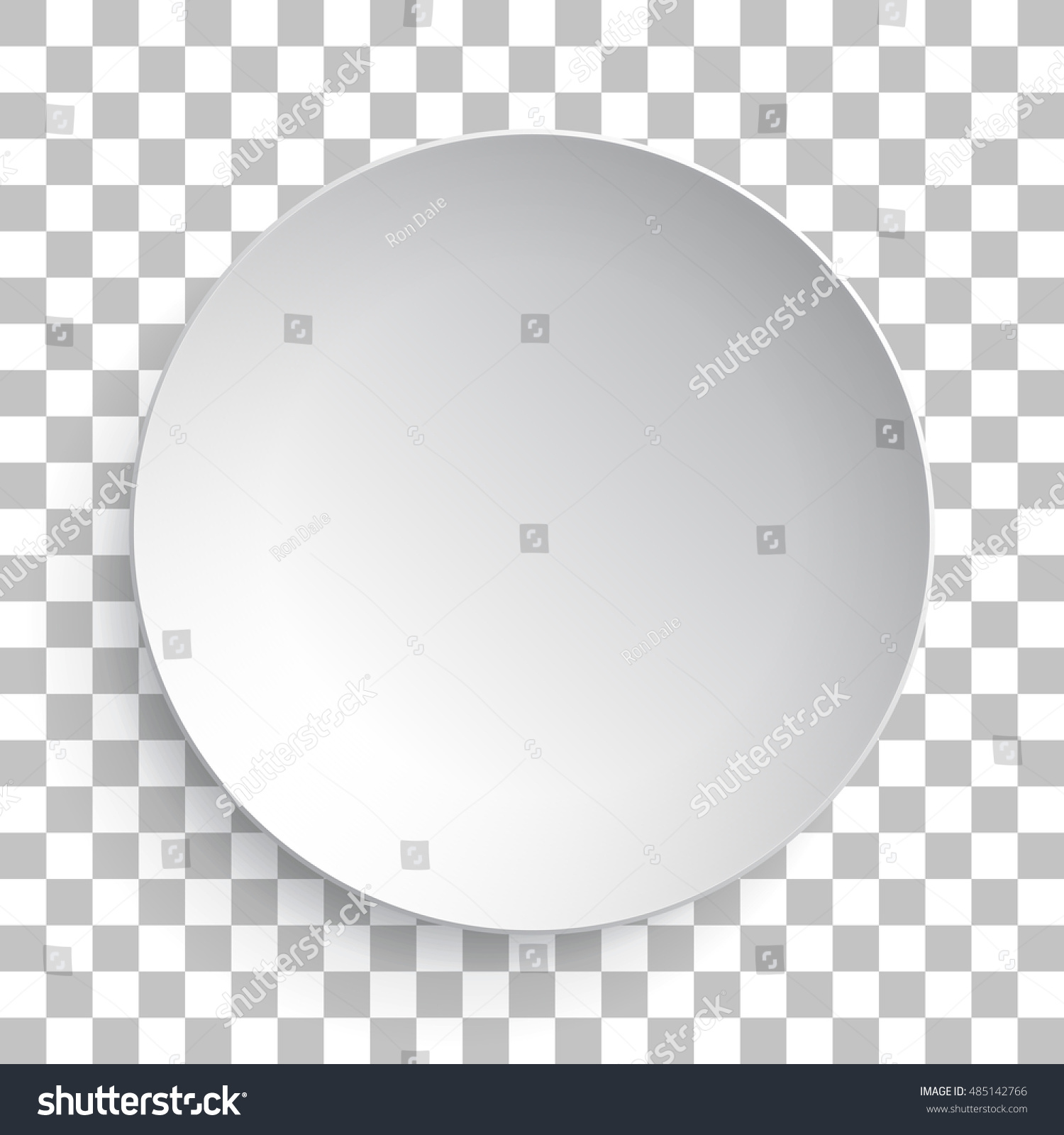 empty white dish plate background vector stock vector
